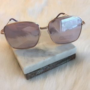 Accessories - Hologram Polarized Mirrored Rose Gold Sunglasses